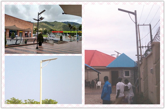 8w all in one intergrated solar street light