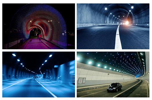 led tunnel light application