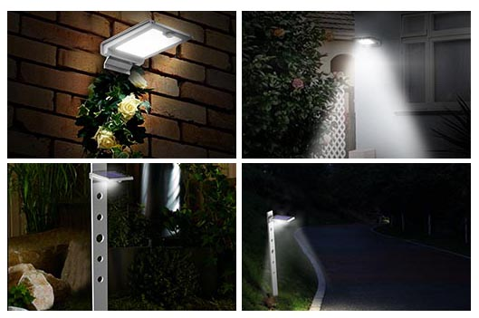 solar led wall lamp application